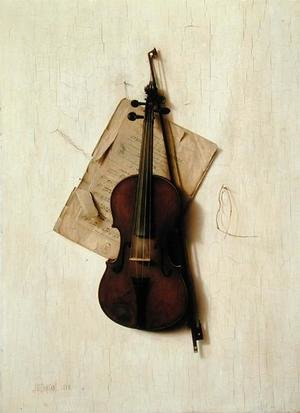 Neo-Classical painting reproductions: The Old Violin, 1888