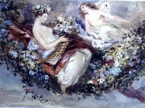 Famous Paintings in Victoria and Albert Museum, London, England: Flora and Zephyr