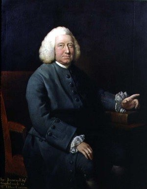 Famous paintings of Men: Portrait of Charles Jennens (1700-73), patron and friend of Handel