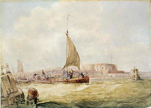 Famous paintings of Harbors & Ports: The Old Harbour, Hull