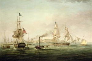 Famous paintings of Harbors & Ports: View of the Port of Hull with the Spartan