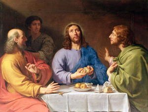 Famous paintings of Apples: The Supper at Emmaus 2
