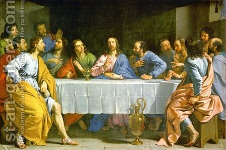 The Last Supper, 1648 by Philippe de Champaigne - Reproduction Oil Painting
