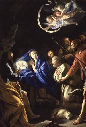 Reproduction oil paintings - Philippe de Champaigne - The Adoration of the Shepherds, c.1648