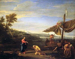 Famous paintings of Harbors & Ports: The Calling of St. Peter