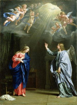 Reproduction oil paintings - Philippe de Champaigne - The Annunciation, 1644