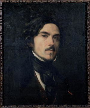 Famous paintings of Men: Eugene Delacroix (1798-1863) 1840