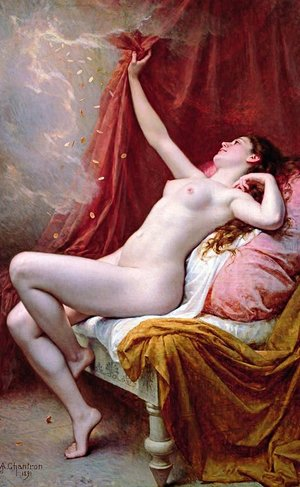 Neo-Classical painting reproductions: Danae, 1891