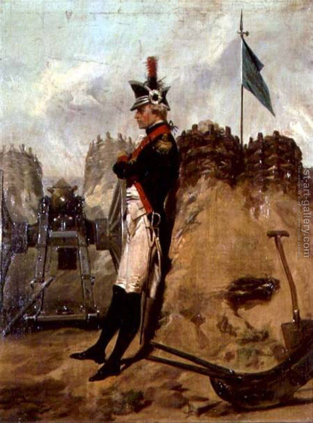 Huge version of Alexander Hamilton (1757-1804) in the Uniform of the New York Artillery
