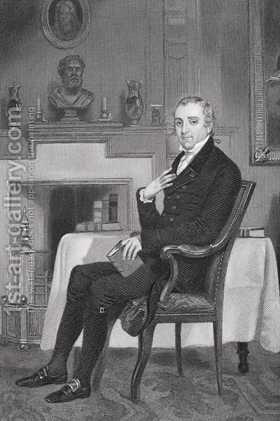Portrait of Fisher Ames (1758-1808) by Alonzo Chappel - Reproduction Oil Painting
