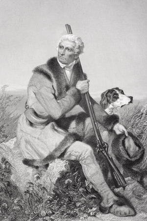 Famous paintings of Men: Portrait of Daniel Boone (1734-1820)