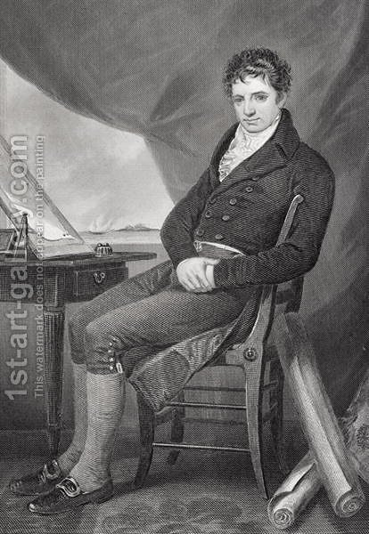 Portrait of Robert Fulton (1765-1815) by Alonzo Chappel - Reproduction Oil Painting