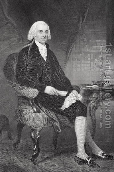 James Madison (1751-1836) by Alonzo Chappel - Reproduction Oil Painting