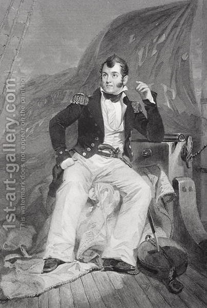 Portrait of Oliver Hazard Perry (1785-1819) by Alonzo Chappel - Reproduction Oil Painting