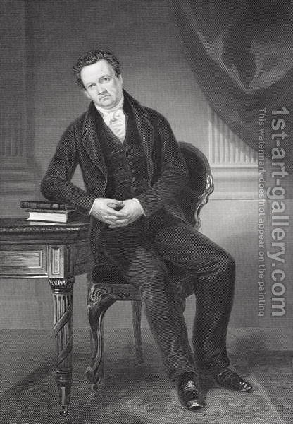 De Witt Clinton (1769-1828) by Alonzo Chappel - Reproduction Oil Painting