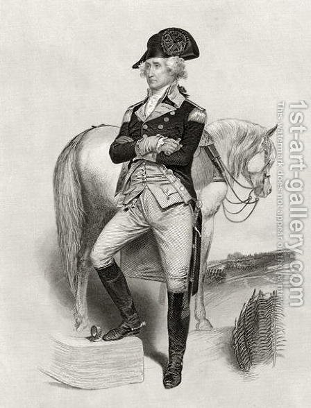 George Washington in 1775, from 'Life and Times of Washington', Volume I, 1857 by Alonzo Chappel - Reproduction Oil Painting