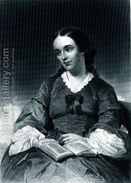 Margaret Fuller (1810-50)  1872 by Alonzo Chappel - Reproduction Oil Painting