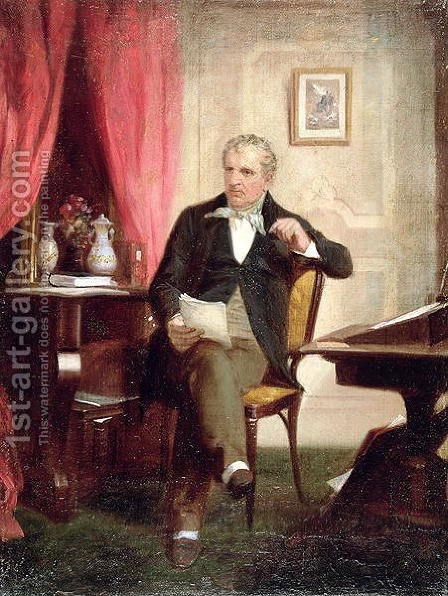 James Fenimore Cooper (1789-1851) by Alonzo Chappel - Reproduction Oil Painting