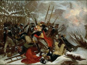 Reproduction oil paintings - Alonzo Chappel - Death of General Richard Montgomery on 31st December 1775, 1865