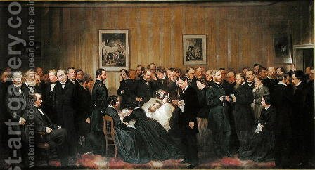 The Death of Lincoln, 1868 by Alonzo Chappel - Reproduction Oil Painting