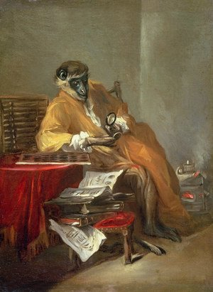 Rococo painting reproductions: The Monkey Antiquarian