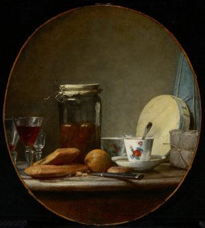 Famous paintings of Tea: Jar of Apricots, 1758