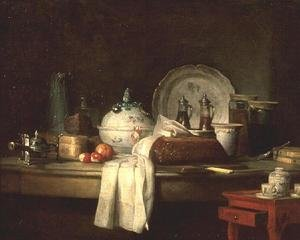 Rococo painting reproductions: The Officers' Mess or The Remains of a Lunch, 1763