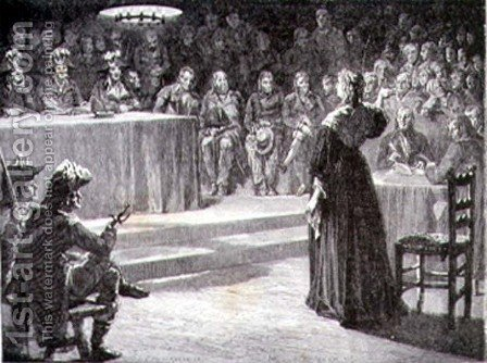 Marie-Antoinette facing the Revolutionary Tribunal in 1793 by H. de la Charlerie - Reproduction Oil Painting