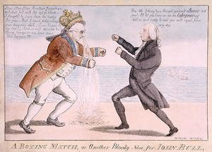 Famous paintings of Sport and Games: A Boxing Match or, Another Bloody Nose for John Bull
