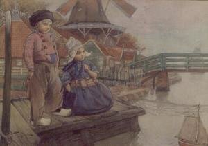 Famous paintings of Harbors & Ports: Dutch Children