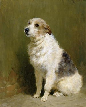 Neo-Classical painting reproductions: Portrait of Pilu, a Performing Dog, 1910