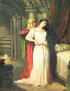 Famous paintings of Furniture: Desdemona Retiring to her Bed, 1849