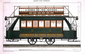 Famous paintings of Trams: Design for a Tram