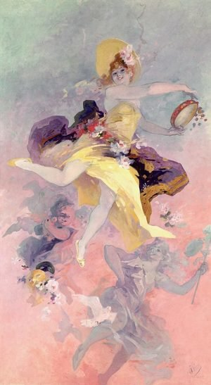 Modernism painting reproductions: Dancer with a Basque Tambourine