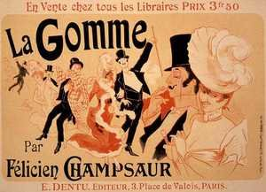 Modernism painting reproductions: Reproduction of a poster advertising 'La Gomme', by Felicien Champsaur