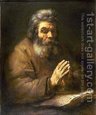 Old Man Praying by Rembrandt - Reproduction Oil Painting