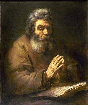 Famous paintings of Men: Old Man Praying