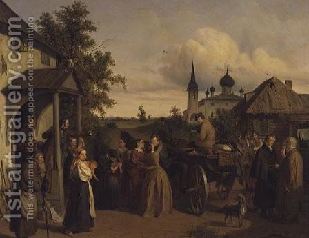 The Departure, 1850 by Aleksei Filippovich Chernyshev - Reproduction Oil Painting