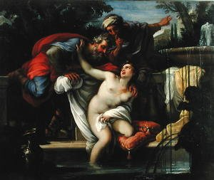 Reproduction oil paintings - Giuseppe Chiari - Susanna and The Elders