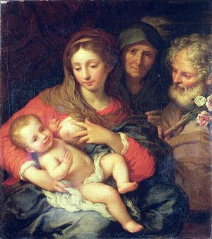 Giuseppe Chiari reproductions - The Holy Family with Elizabeth