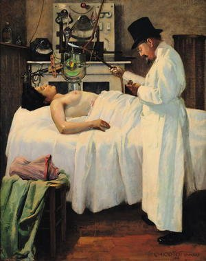 Realism painting reproductions: The First Attempt to Treat Cancer with X Rays by Doctor Chicotot, 1907