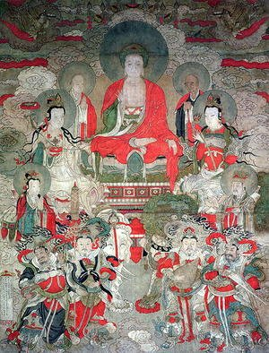 Famous paintings of Buddhism: Buddhas, 1675