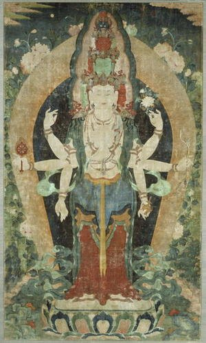 Famous paintings of Buddhism: Eleven-Faced, Eight-Armed Avalokiteshvara