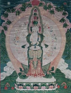 Famous paintings of Buddhism: Thangka, Thousand armed Avalokitesvara in Cosmic Form