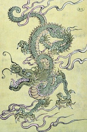 Reproduction oil paintings - Anonymous Artist - A Chinese Dragon