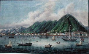 Anonymous Artist reproductions - Victoria Island, Hong Kong, c.1865
