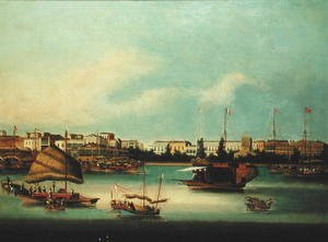 Famous paintings of Harbors & Ports: The Pagoda, Whampoa Island