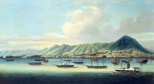 Famous paintings of Harbors & Ports: Victoria Island, Hong Kong (2)