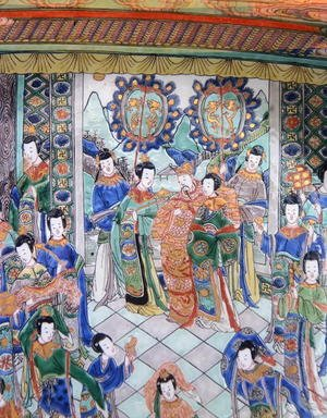 Reproduction oil paintings - Anonymous Artist - Large Famille Verte Charger, Kangxi period (1662-1722)