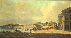 Famous paintings of Harbors & Ports: View of Macao (2)